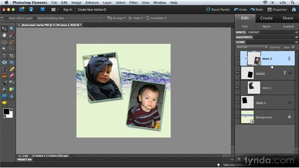 Creating a customized multipage photobook: Combining Images with Photoshop Elements 9