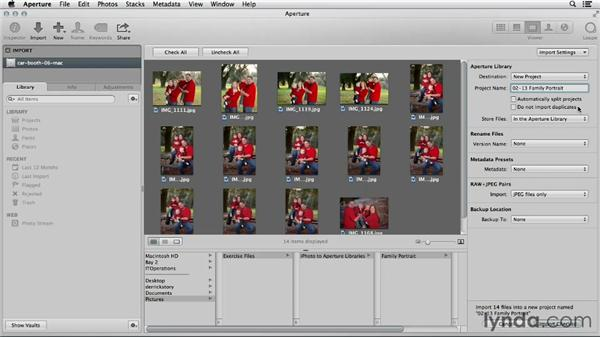 Advanced importing with Aperture: Using iPhoto and Aperture Together