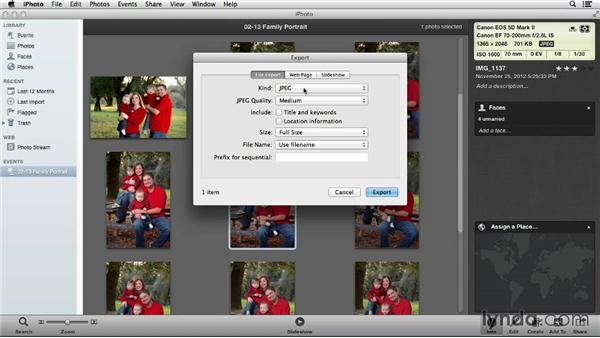 Importing into iPhoto libraries with Aperture: Using iPhoto and Aperture Together