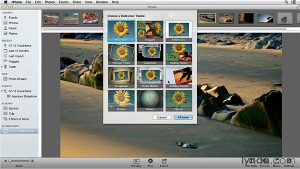 Choosing iPhoto for quick slideshow authoring: Using iPhoto and Aperture Together