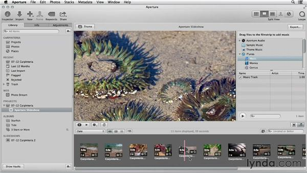 Choosing Aperture for advanced slideshow authoring: Using iPhoto and Aperture Together