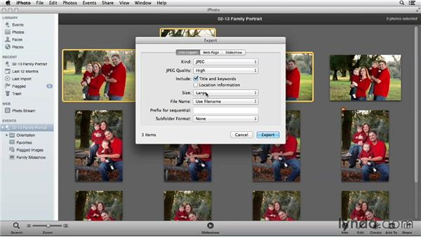 Using iPhoto for simple file export: Using iPhoto and Aperture Together