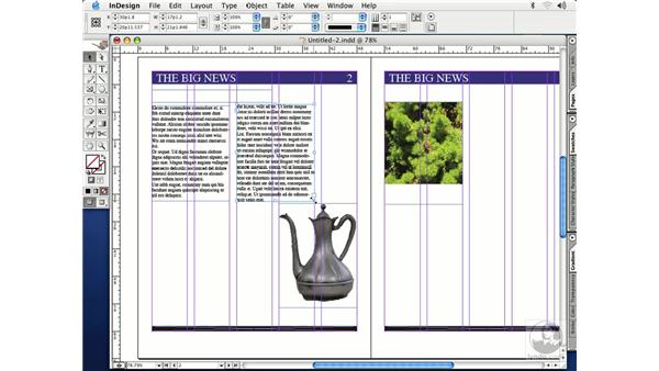 threading text frames: InDesign CS Essential Training