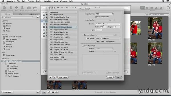 Using Aperture for advanced file export: Using iPhoto and Aperture Together