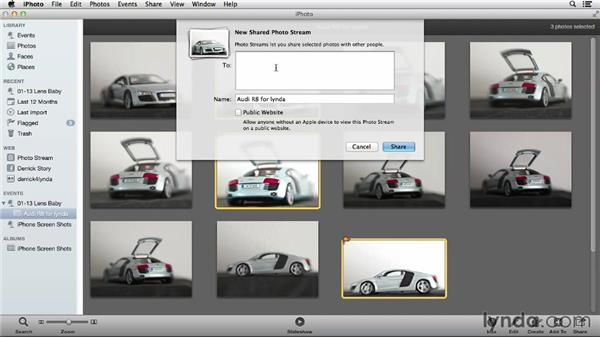 Sharing your images with others using Photo Stream: Using iPhoto and Aperture Together