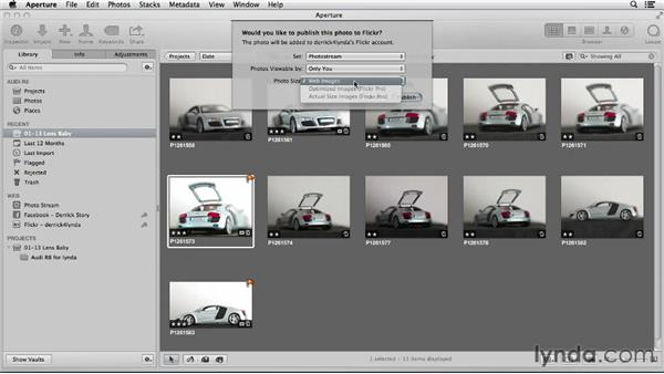 Publishing images to Flickr with iPhoto and Aperture: Using iPhoto and Aperture Together