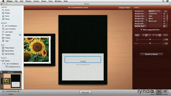 Creating letterpress, folded, and flat cards in iPhoto: Using iPhoto and Aperture Together