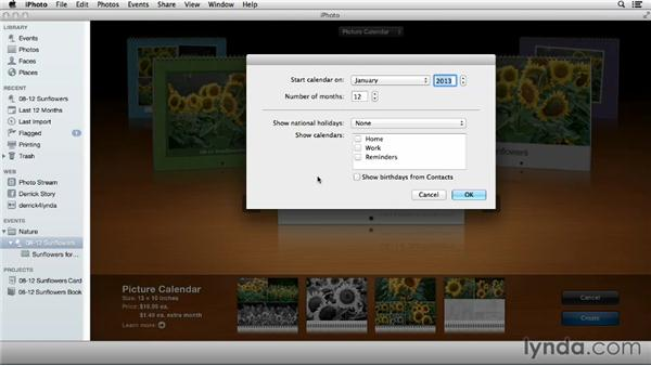 Creating a calendar in iPhoto: Using iPhoto and Aperture Together