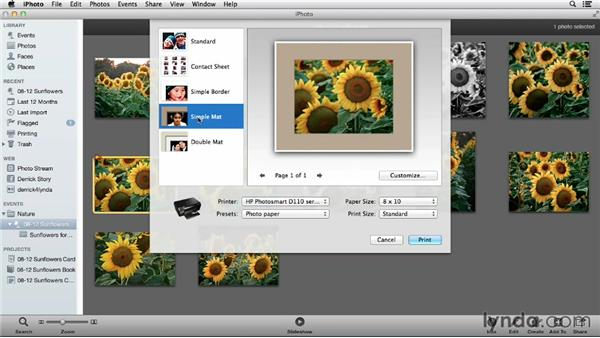 Making an inkjet print in iPhoto: Using iPhoto and Aperture Together