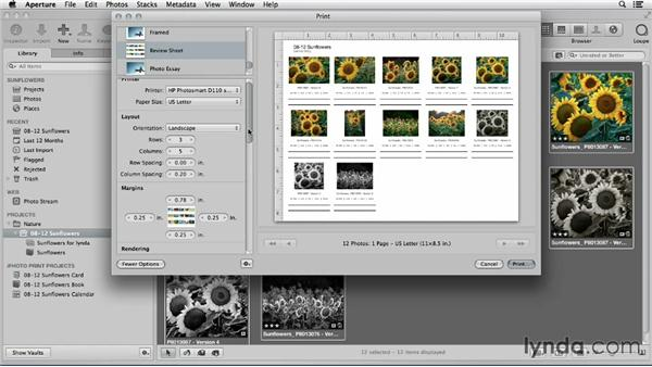 Making a custom print in Aperture: Using iPhoto and Aperture Together