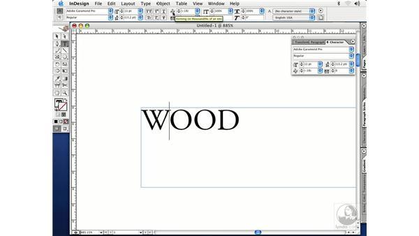 setting type: InDesign CS Essential Training