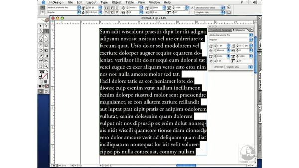 open type fonts: InDesign CS Essential Training