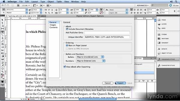 Defining vertical space: Creating Ebooks with InDesign CS5