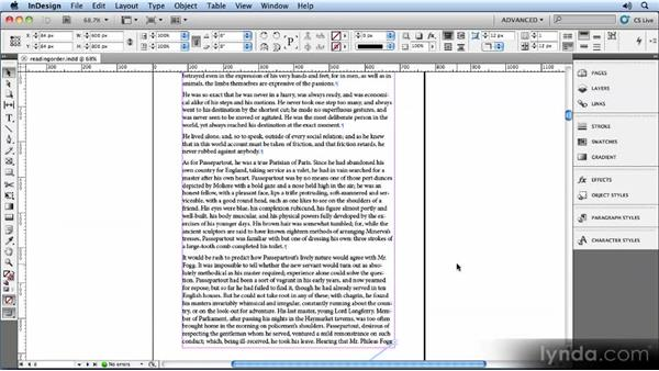 Using an InDesign story to define the reading order: Creating Ebooks with InDesign CS5