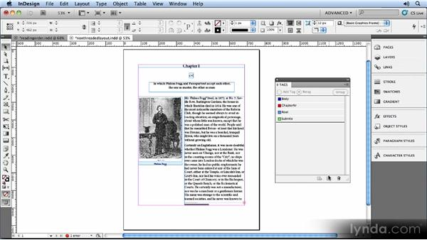 Using XML to define the reading order: Creating Ebooks with InDesign CS5