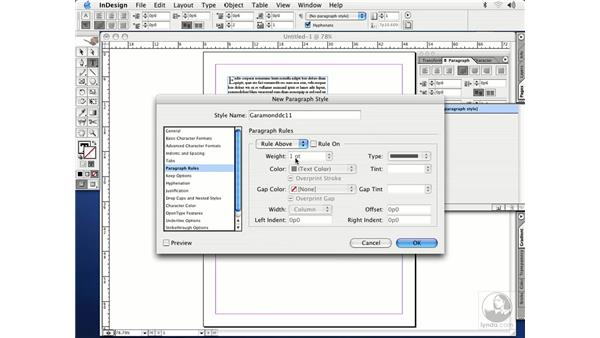 paragraph styles: InDesign CS Essential Training