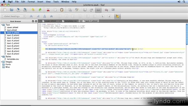 Working with the XHTML code: Creating Ebooks with InDesign CS5