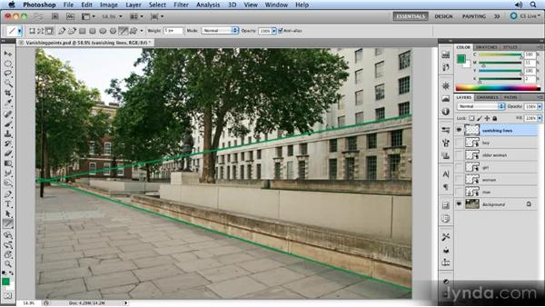 Finding the vanishing point: Creating Perspective with Photoshop