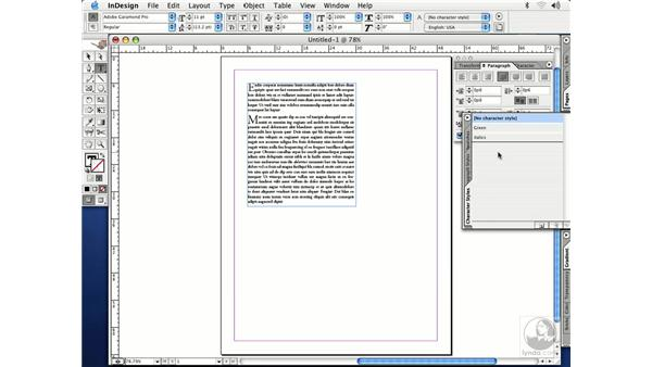 nested styles: InDesign CS Essential Training
