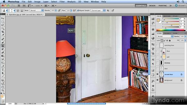 Adding the interior door: Creating Perspective with Photoshop