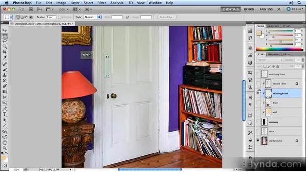 Building the skirting board: Creating Perspective with Photoshop