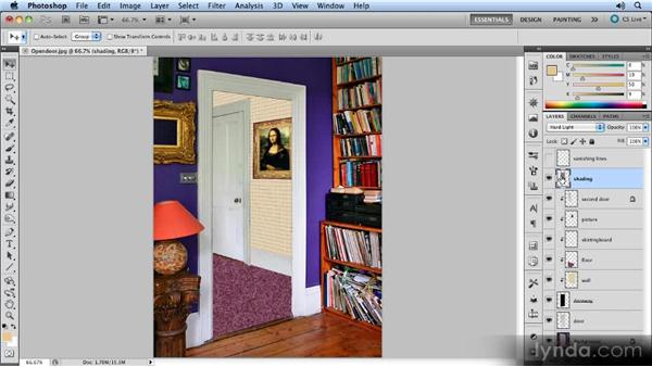 Painting the shadows: Creating Perspective with Photoshop