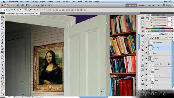 Opening the original door: Creating Perspective with Photoshop