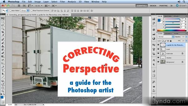 Adding the sign: Creating Perspective with Photoshop