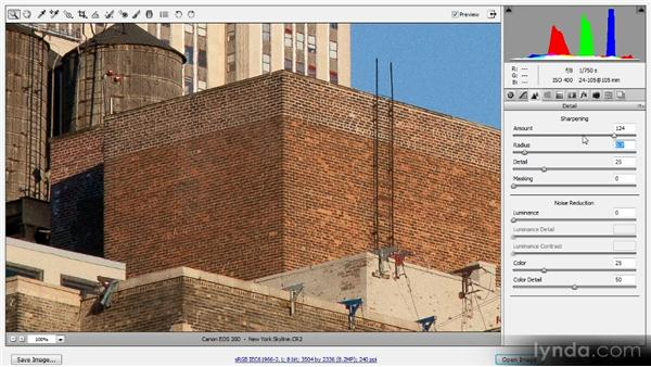 Conversion sharpening in Adobe Camera Raw: Photoshop Sharpening Power Workshop