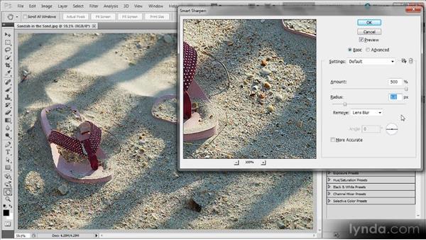 Using Smart Sharpen: Photoshop Sharpening Power Workshop