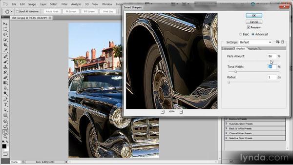Using the Smart Sharpen Advanced mode: Photoshop Sharpening Power Workshop