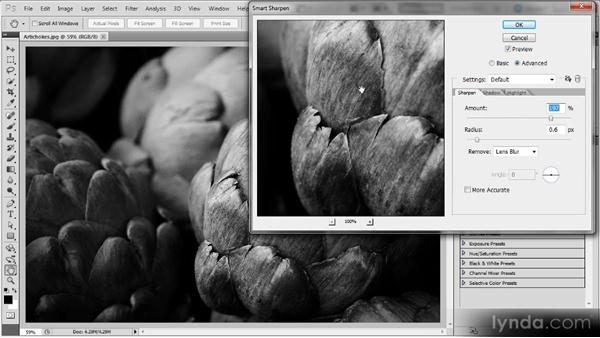 Sharpening a black-and-white photo: Photoshop Sharpening Power Workshop