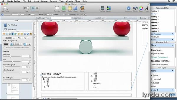 Working with numbered examples: iBooks Author for Teachers: Creating a Math Lesson