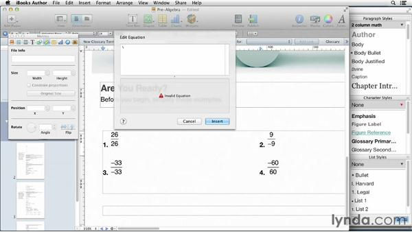 Working with math content: iBooks Author for Teachers: Creating a Math Lesson