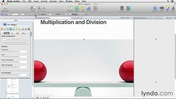 Testing and sharing a lesson: iBooks Author for Teachers: Creating a Math Lesson