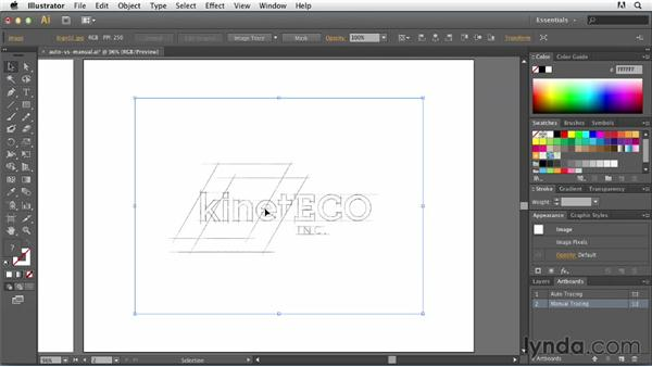 Autotracing vs. manual creation: Tracing Artwork with Illustrator