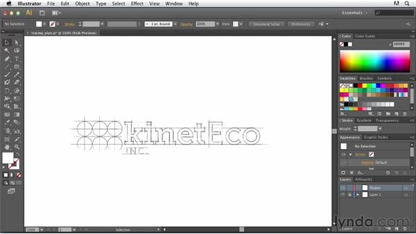 Developing a tracing plan: Tracing Artwork with Illustrator