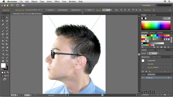 Setting up your artwork for autotracing: Tracing Artwork with Illustrator