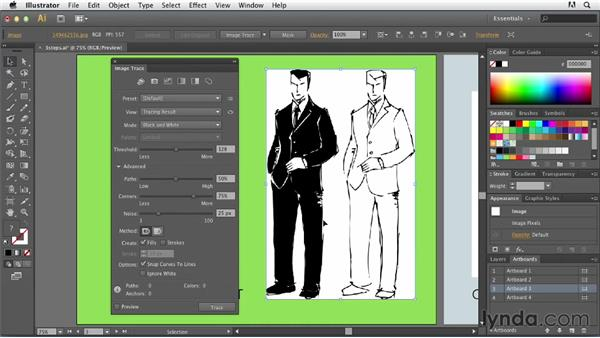 Exploring the three steps of tracing: Tracing Artwork with Illustrator