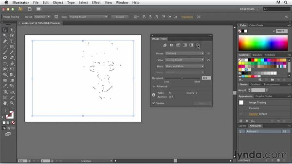 Exploring the Image Trace panel: Tracing Artwork with Illustrator