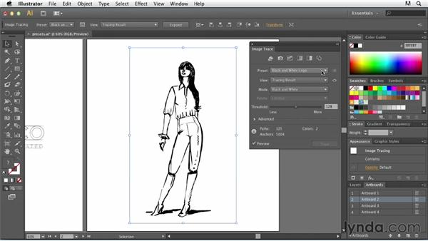 Quick tracing with presets: Tracing Artwork with Illustrator
