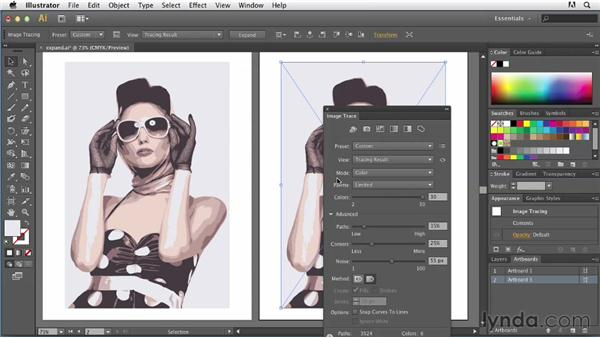 Expanding your artwork: Tracing Artwork with Illustrator