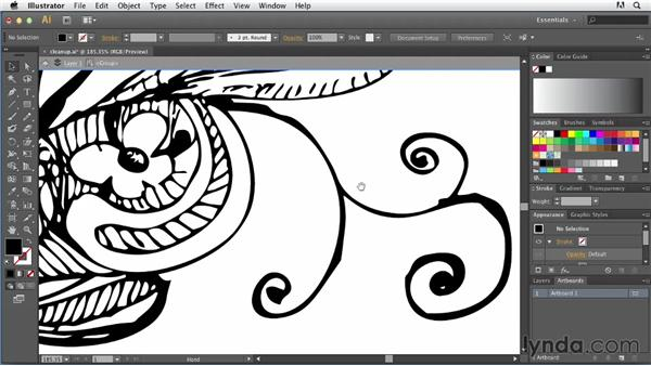 Cleaning up stray pixels: Tracing Artwork with Illustrator