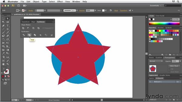 Using the Pathfinder panel: Tracing Artwork with Illustrator