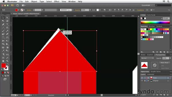 Re-creating basic structures: Tracing Artwork with Illustrator