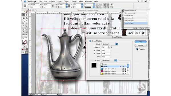 drop shadows: InDesign CS Essential Training