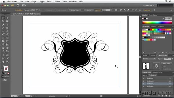 Creating with the Pen tool: Tracing Artwork with Illustrator