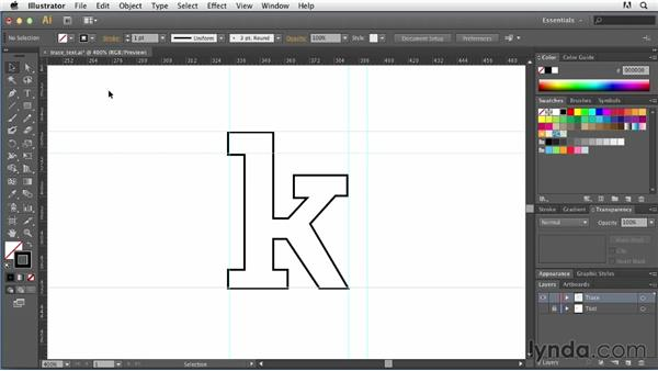 Tracing text by hand: Tracing Artwork with Illustrator