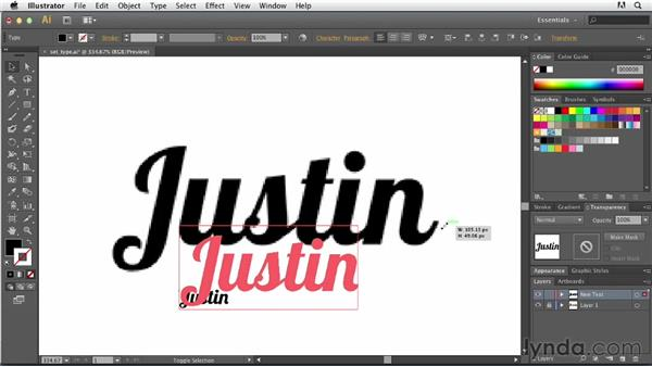 Setting type yourself: Tracing Artwork with Illustrator