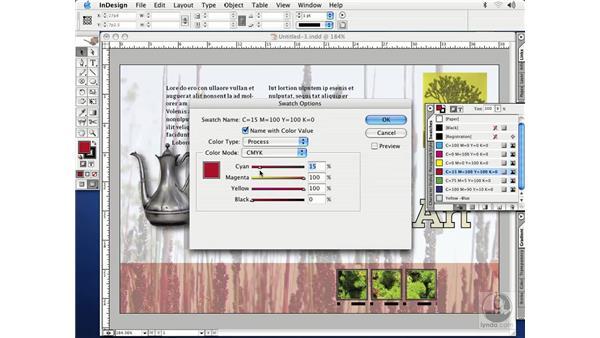 CMYK color: InDesign CS Essential Training